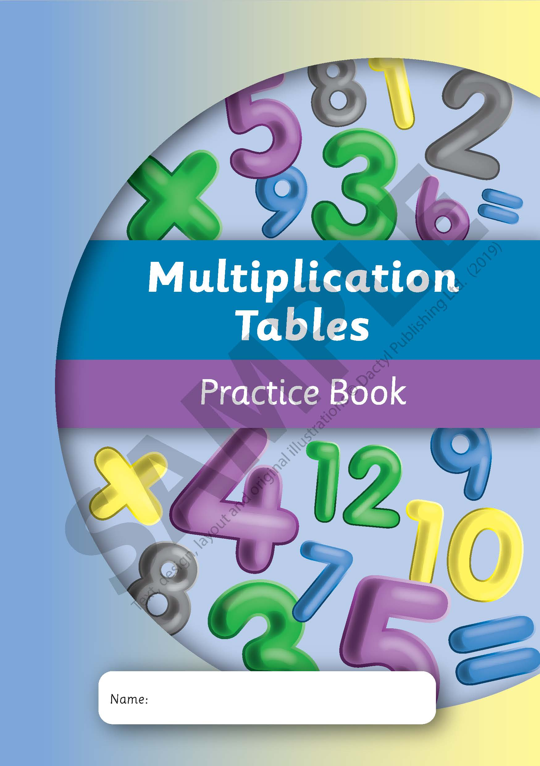 Multiplication Tables Practice Book   Dactyl Publishing